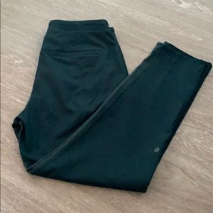 Woven 7/8 pant in teal